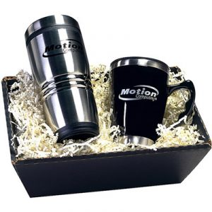 Custom 2 Piece Tumbler/Mug Gift Set in Black Gift Box