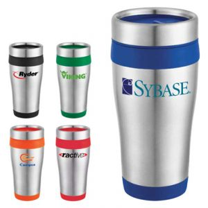 Custom Carmel Stainless Steel Travel Tumbler
