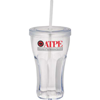Custom Fountain Soda Tumbler w/ Straw