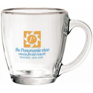 Custom 15.5oz Clear Glass Bistro Coffee Mug