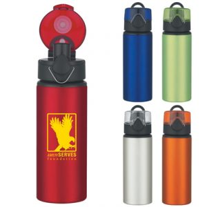 Custom 25 oz. Aluminum Sports Bottle With Pop-Up Lid