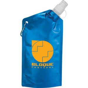 Custom Collapsible Water Bag w/ Carabiner