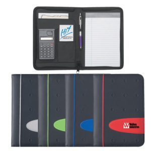 Custom Eclipse 5″ X 7″ Zippered Portfolio With Calculator