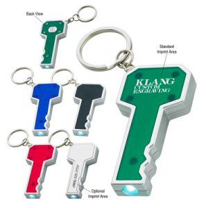 Custom Key Shape LED Key Chain