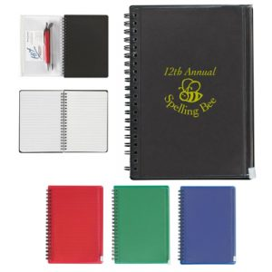 Custom Spiral Notebook With Pouch