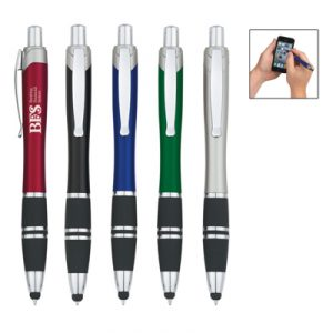 Custom Tri-Band Pen With Stylus