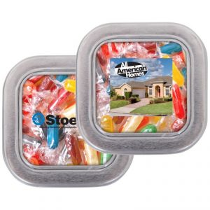 Custom Square Candy Tin - Medium